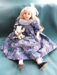 "Dolls by Pauline 'Tatiana"" by Pauline Bjonness Jacobsen Signed 22"" Porcelain | eBay"