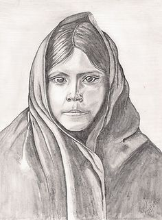 An Apache Daughter  Drawn By Beverly Marshall  SOLD