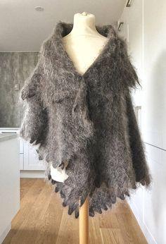 Orenburg Shawl Russian Shawl Wrap Grey Wool Wrap Fluffy Shrug Goat Wool Scarf Winter Shawl Winter Scarf Mother Gift For Her Hygge Shawl