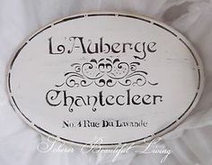 French Paris Sign White Plaque Cottage Decor Home Wall Scherer Beautiful Living