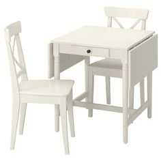 Ingatorp Ingolf (IKEA Table And 2 Chairs) ( Furniture > Dining Furniture > Dining Table Chair > Dining Sets ) #69400557