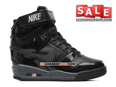 NIKE AIR REVOLUTION SKY HI GS - WOMEN´S NIKE SPORT FASHION SHOE Black/Hyper Punch/Metallic Silver/Anthracite 599410-009