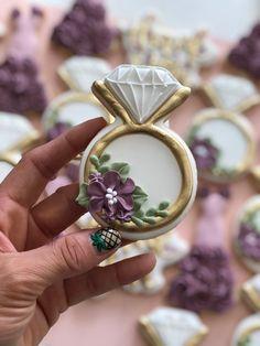 Wedding Sweets, Wedding Cookies, Wedding Cake, Engagement Cookies, Engagement Rings, Engagement Ideas, Royal Icing Cookies, Sugar Cookies, Fancy Cookies