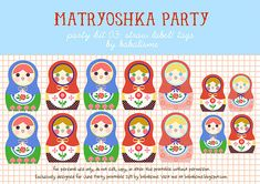 FREE Matryoshka party printables - complete set - from babalisme