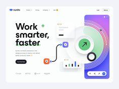 Nunito - Hero header v.3 😅 by Tran Mau Tri Tam ✪ Web Design, Design Trends, Company Job, Ui Design Inspiration, Design Process, Netflix, Marketing, Learning, Digital