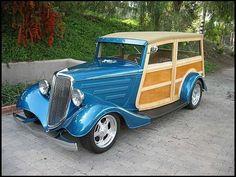 "1934 Ford Woody Wagon ~ Miks' Pics ""Era Automobiles ll"" board @ http://www.pinterest.com/msmgish/era-automobiles-ll/"