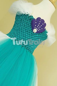Ariel Dress, Mermaid Tutu Dress, Mermaid Costume, Little Mermaid Party, Under the Sea Tutu Ariel Tutu Dress, Tutu Dresses, Tulle Dress, Mermaid Disney, Ariel The Little Mermaid, Princess Party, Disney Princess, Serenity, Crochet Hats
