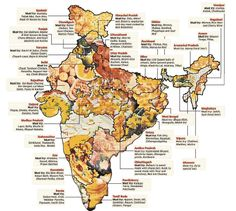Gourmet map of India :D