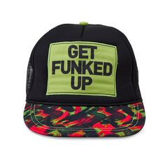Show off your Zumba® pride while keepin' your hair under wraps in the Get Funked Up Trucker Zumba Hat.