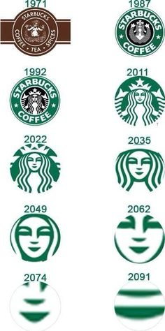 Starbucks symbols.