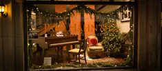 A cozy living room scene waiting for Santa to arrive. Cozy Living Rooms, Christmas 2017, Store Fronts, Waiting, Santa, Scene, Windows, Home, Cosy Living Rooms