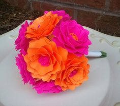 Handmade Paper Flowers  Bouquet  Customized by morepaperthanshoes, $42.00