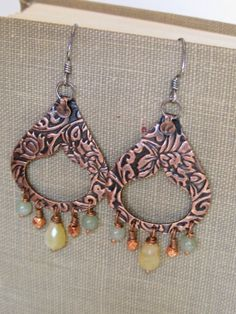 Gypsy Copper and sterling silver embossed bold by SissyPretties, $28.00