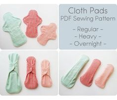 Cloth Pads Sewing Pattern