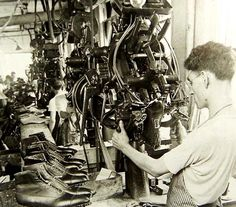 Brockton Shoe Museum. My parents met in a shoe factory in Brockton 1946