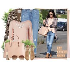 Leopard print jacket with blush accessories - classic and sophisticated