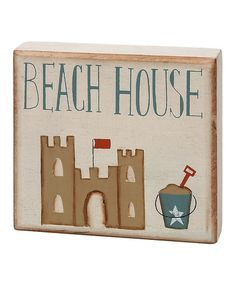 Take a look at this Cream & Blue 'Beach House' Block by Collins on #zulily today!
