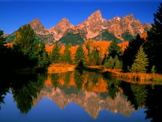 Teton Range in Autumn, Grand Teton National Park, WY Photographic Print by Russell Burden at AllPosters.com