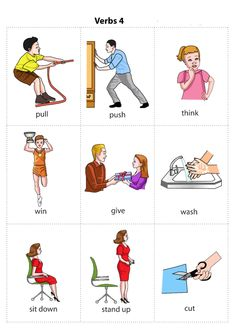 Kids Pages - Verbs 4 - multiple available! Learning English For Kids, English Lessons For Kids, Kids English, English Tips, English Language Learning, English Study, Teaching English, Learn English, English Verbs