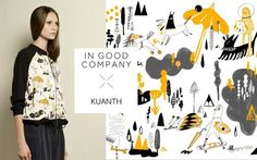IGC X Kuanth Capsule 3. Collaborating with IGC (In Good Company) prints for Capsule 4 Collection by Kuanth | Illustrious World | #Illustriousio