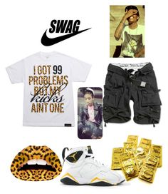 """""""I GOT 99 PROBLEMS BUT MY KICKS AINT ONE ~"""" by khiidamy4502 ❤ liked on Polyvore featuring Violent Lips"""