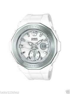 be49fff0424 BGA-220-7A White Casio Baby-g Lady Watches Resin G-Lide