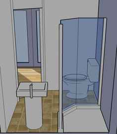 tiny simple house bathroom