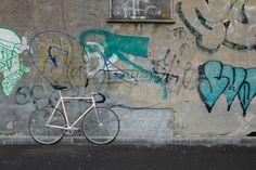 BANANI Custom Pista frameset. Super tight geometry. A piece of art by Danish Sverre Nielsen AKA Lillebror.  DA hubs/Wolber SC rims. Zeus chainset/MKS Sylvan pedals.  San Marco Concor 313/Selcoff Team.  ITM Eclypse/Cinelli Criteritum.