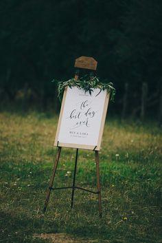 modern farm wedding sign