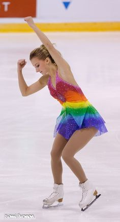 Angelica Olsson's rainbow dress for the Mahogany program at the 2011 Finlandia Trophy.