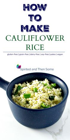If you're curious how to make cauliflower rice, then you're in the right spot! A delicious grain-free addition to recipes! Making Cauliflower Rice, How To Make Cauliflower, Gluten Free Grains, Gluten Free Rice, Slow Cooker Recipes, Vegetarian Recipes, Healthy Recipes, Free Recipes, Rice Ingredients