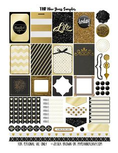 FREE New Years Sampler - Free Planner Printable for Happy Planner and the Erin Condren Life Planner by My Planner Envy