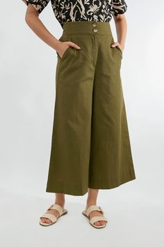 Tessa Culotte. Online price $88.00. Pants in Olive, Green, Rose, Pink, Red Summer Outfits, Summer Clothes, Online Price, Pant Jumpsuit, Capri Pants, Window Shopping, Red, Pink, Women