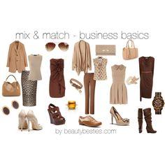 """mix & match business basics"" by beautybesties1 on Polyvore"