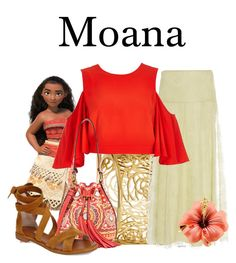 A fashion look from February 2017 featuring red crop top, high-waist skirt and flat shoes. Browse and shop related looks. Disney Character Outfits, Character Inspired Outfits, Disney Characters, Moana Outfits, Disney Outfits, Disney Dresses, Cool Outfits, Fashion Outfits, Disney Fashion