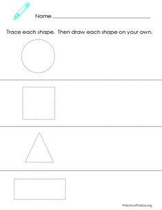Picturepreschool shape printable worksheet
