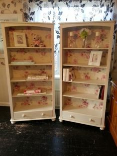 Preloved | shabby so chic bookcase, armoire, display shelves + drawer for sale in Leicester, Leicestershire