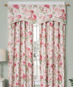 Look at this #zulilyfind! Tea Rose English Floral Foam-Back Curtain Panel #zulilyfinds