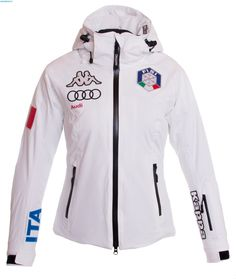 Kappa Women Italian Team FISI Jacket – White