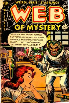 Comic Book Cover For Web of Mystery #14