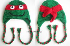 Ninja Turtle Hat  Choose your color  Newborn by KnotSewCuteDesigns, $25.00