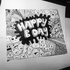 #happy #birthday #ciella #iloveyou #draw #drawing #doodle #doodleart #doodlez…