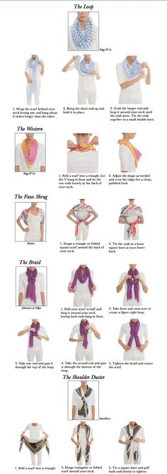 A scarf is one of those miracle accessories that has the ability to make a basic outfit look extraordinary. Scarves are a great way to add color or pattern to a monochrome palette and transform your wardrobe basics into chic, fresh outfits. Bold florals and statement prints are a big trend [...]: