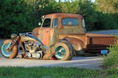 rat rod trucks and cars Hot Rod Trucks, Cool Trucks, Cool Cars, Big Trucks, 1952 Chevy Truck, Chevy Trucks, Truck Drivers, Pickup Trucks, Dually Trucks