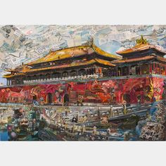 Vik Muniz  Forbidden City (Postcards from Nowhere), 2014  Digital c-print  180.3 x 256.8 cm  71 x 101 1/8 inches  Edition of 6 + 4 AP  , 301 Pedder