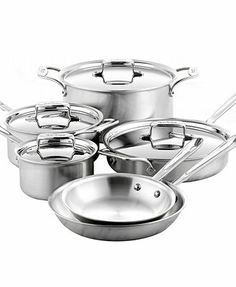 All-Clad BD5 Brushed Stainless Steel 10 Piece Cookware Set
