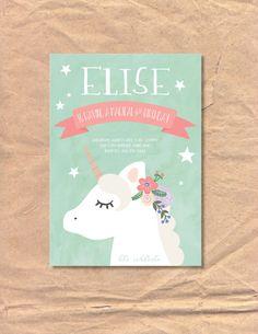 Invitación de cumpleaños para imprimir unicornio