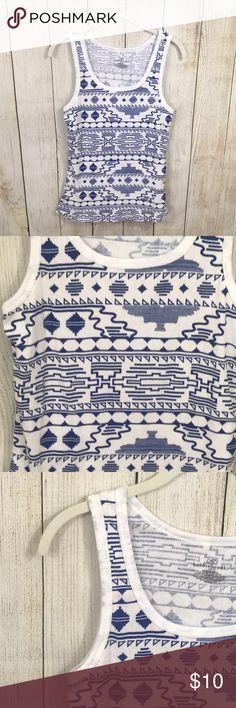 5a653172409c68 Bobbie Brooks | Tribal Geometric Print Ribbed Tank Ladies Bobbie Brooks  size 1X ribbed stank top