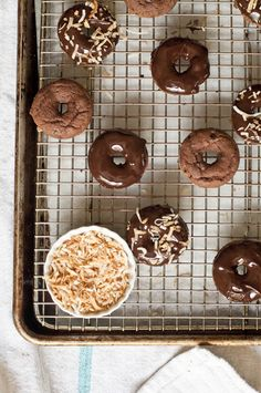 Baked Chocolate Doughnuts with Chocolate Honey Glaze Frosting – Gluten Free from @Susan Caron Salzman(The Urban Baker)