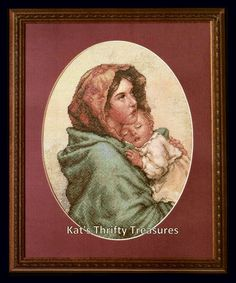 "Bucilla ""Mother and Child""  Counted Cross Stitch Kit, Number 43199. Infant, Baby, Family. Finished Size - 9"" x 11.75"". #MotherandChild #CrossStitchKit #Bucilla"